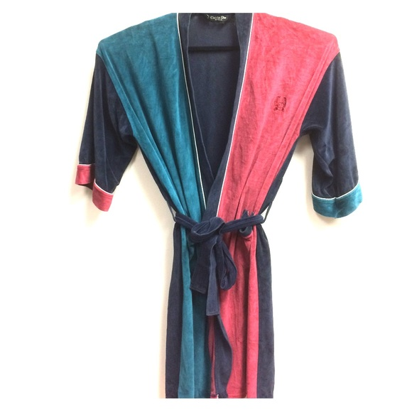 8903a8a87a Christian Dior Other - Christian Dior Vintage Men s Red  Blue Robe